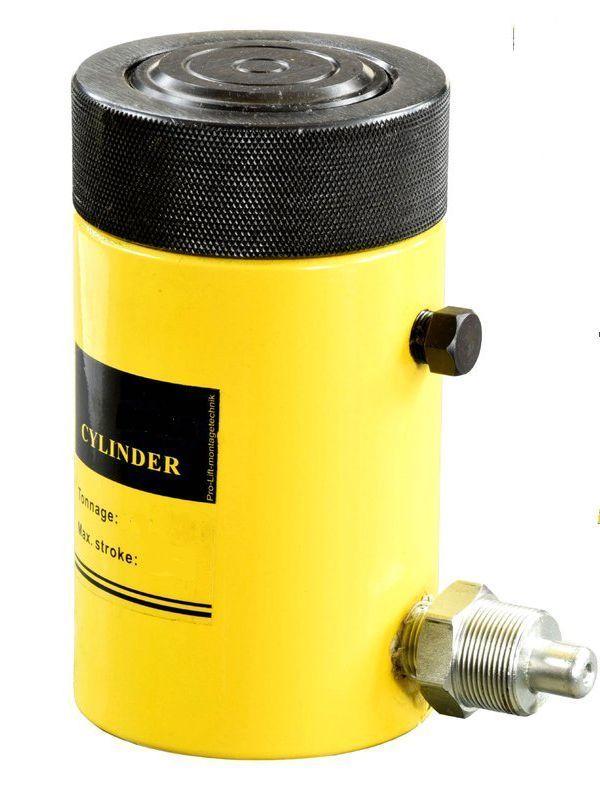 Домкрат гидравлический TOR HHYG-500300LS (ДГ500П300Г),  500т с фиксирующей гайкой