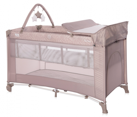 Кровать-манеж Lorelli Torino 2 Plus Бежевый / String 2115