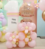 Композиция из шаров на 1 годик, малыш и цифра