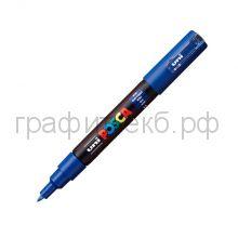 Маркер декоративный UNI POSKA 0,7мм синий PC-1M