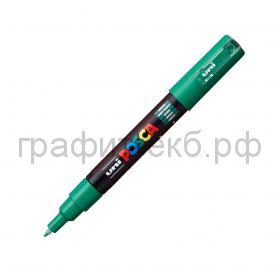 Маркер декоративный UNI POSKA 0,7мм зеленый PC-1M