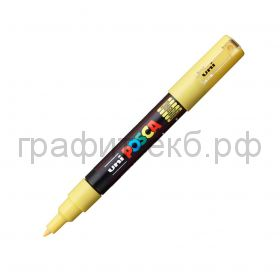 Маркер декоративный UNI POSKA 0,7мм желтый PC-1M