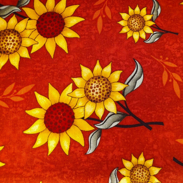 Ткань  Sanflower Bouquet Подсолнухи Quilting Treasures США отрез 50 см х 55 см (23231)