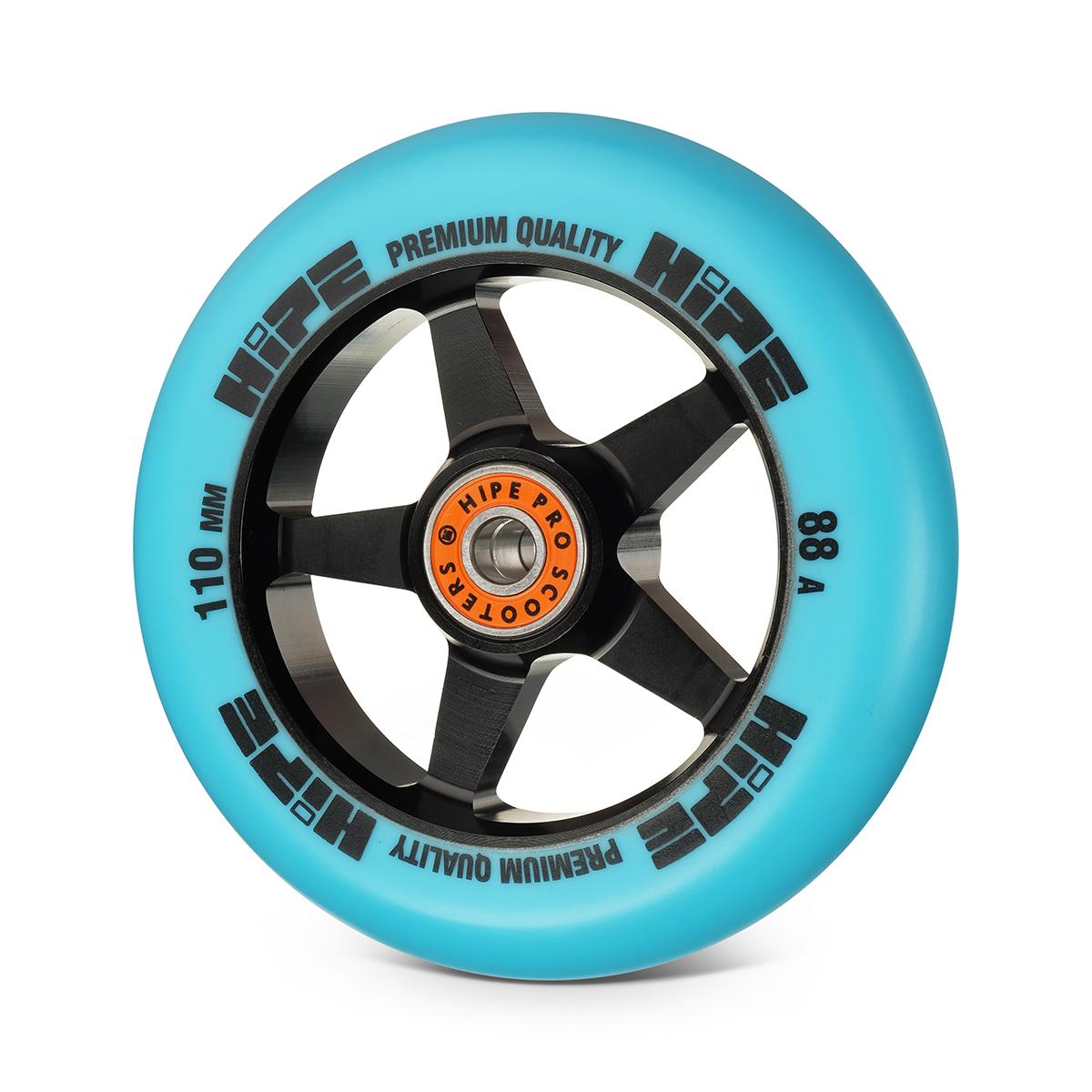 Колесо HIPE H09 110мм черный/синий