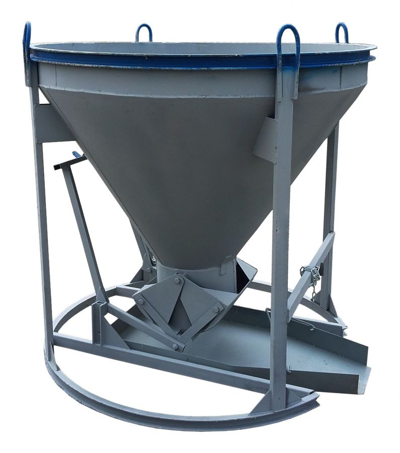 Бадья для бетона «Рюмка» 0,5 (БН-0,5), с лотком  600х1250 мм усиленная