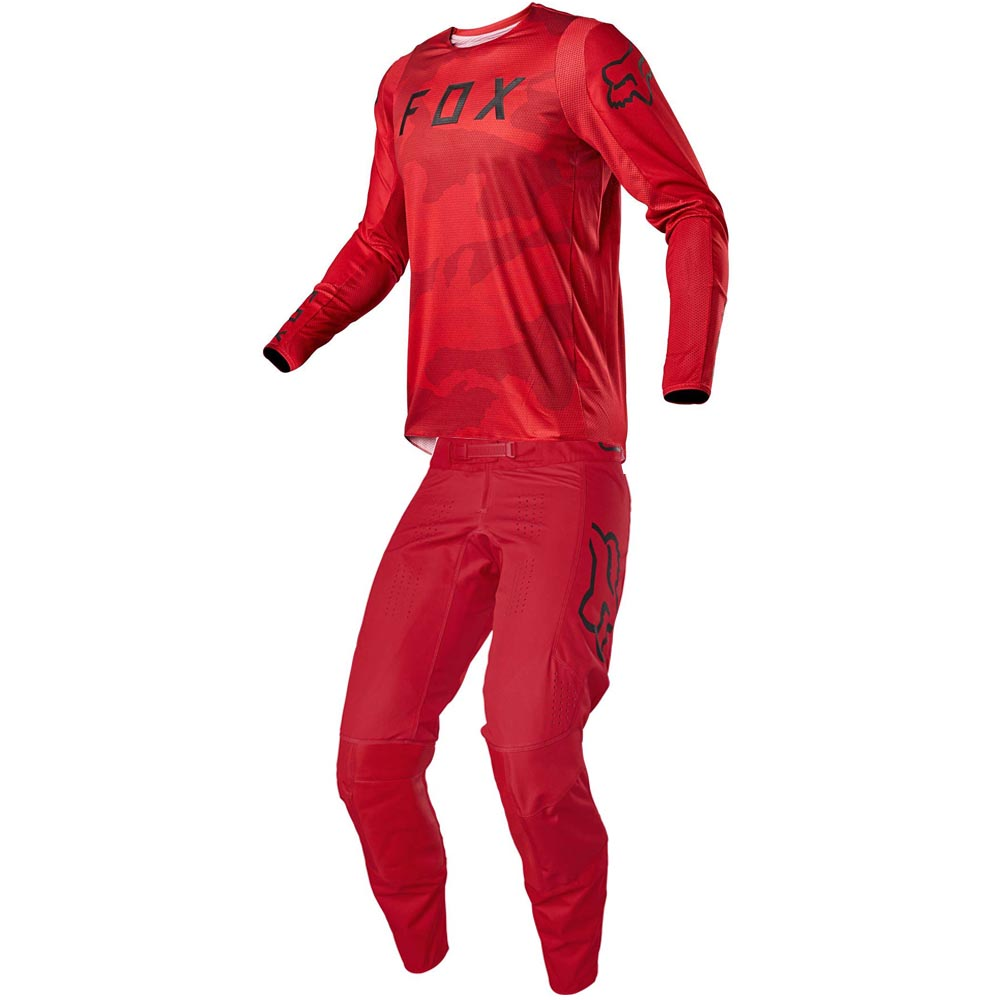 Fox 2021 360 Speyer Flame Red джерси и штаны для мотокросса