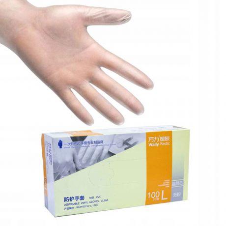 Перчатки виниловые Wally Plastic, 50 пар