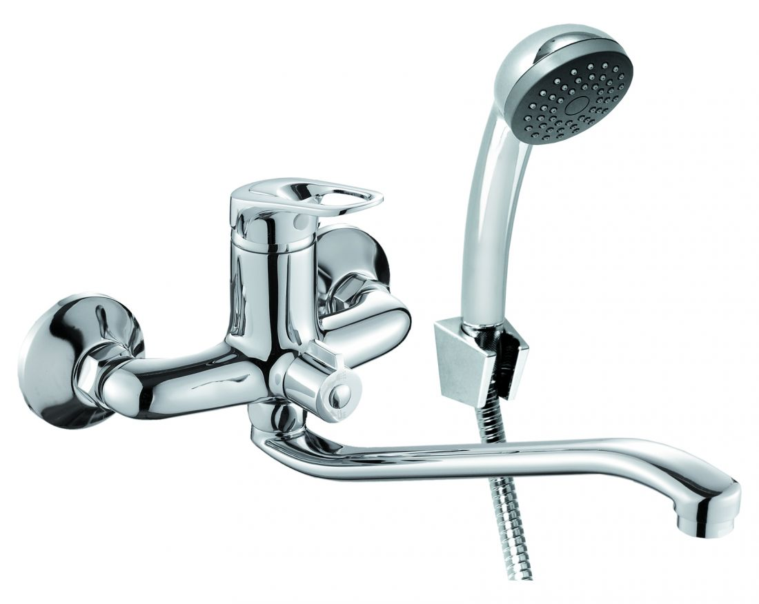 Смеситель для ванны с длинным изливом  SOL1600