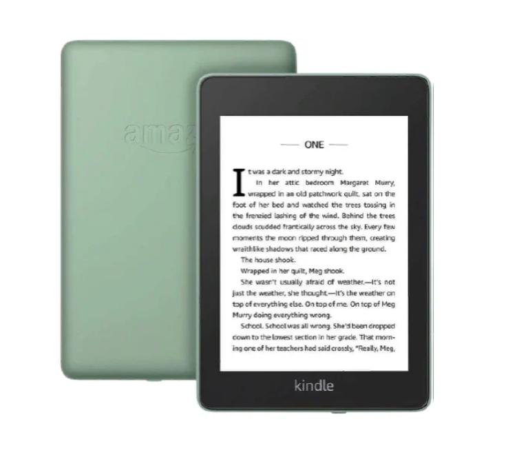 Электронная книга Amazon Kindle PaperWhite 2018 8Gb (sage) Ad-Supported