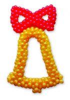 Колокольчик из воздушных шаров плетеный