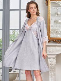Комплект для дома и роддома Olivia серый меланж 6363