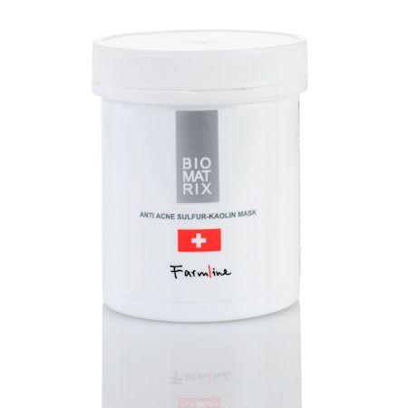 МАСКА АНТИ-АКНЕ С СЕРОЙ И КАОЛИНОМ, Biomatrix Farmline (Биоматрикс) 250 мл
