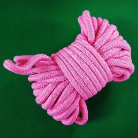 Верёвка х/б мягкая - розовая (1 метр)
