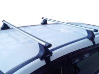 Багажник на крышу Renault Arkana, Атлант, аэродинамические дуги Эконом, опора Е