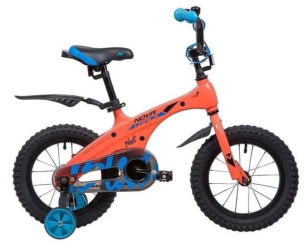 """Детский велосипед Novatrack Blast 14"""" Оранжевый (134082)"""