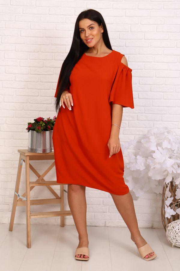 Платье 39503 [кирпичный]