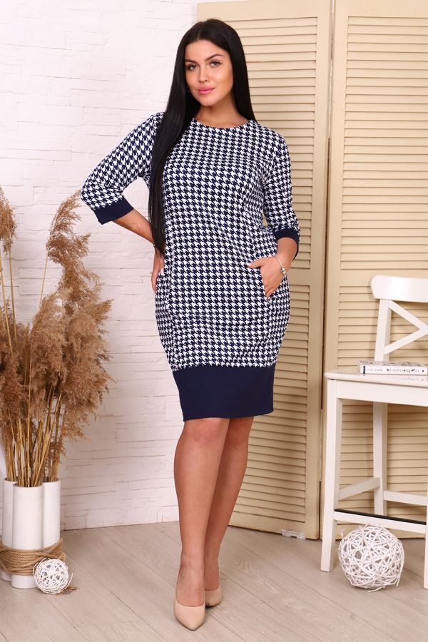 Платье 35032 [синий]