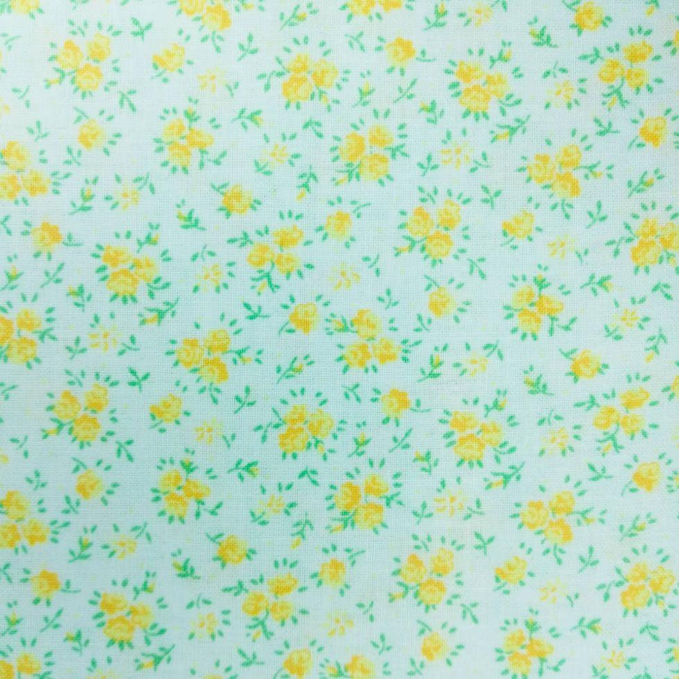 фото Ткань Мелкие желтые цветочки Classic Cottons США  отрез 50 см х 55 см 4019-35581-104