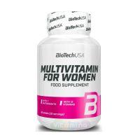 BIOTECHUSA Комплекс мультивитаминов и антиоксидантов для женщин Multivitamin for Women, 60 таб