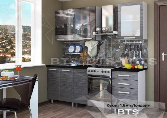 Кухня Лондон с фотопечатью МДФ 1.6 м