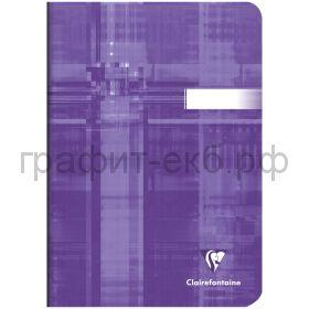 Тетрадь А5 48л.кл.Clairefontaine Mimesys глянцевая ламинация фиолетовая 90г/м2 63682C_violet