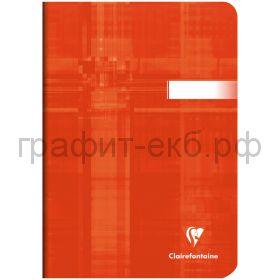 Тетрадь А5 48л.кл.Clairefontaine Mimesys глянцевая ламинация мандариновая 90г/м2 63682C_tangerine