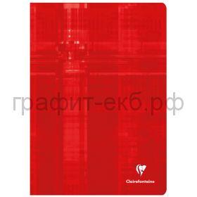 Тетрадь А4 48л.кл.Clairefontaine Mimesys глянцевая ламинация красная 90г/м2 63162C_red