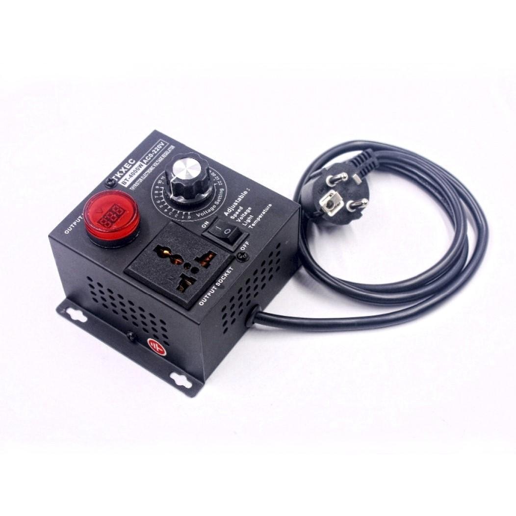 Регулятор напряжения на 4 кВт с крутилкой и проводом