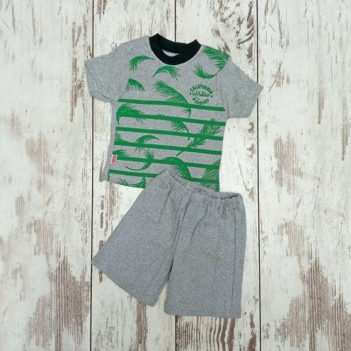 Костюм California серый: футболка, шорты