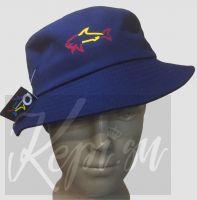Панама шляпа черная и синяя