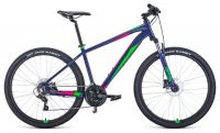 Велосипед FORWARD APACHE 27,5 3.2 disc Фиолетовый/зеленый (RBKW1M37G044)