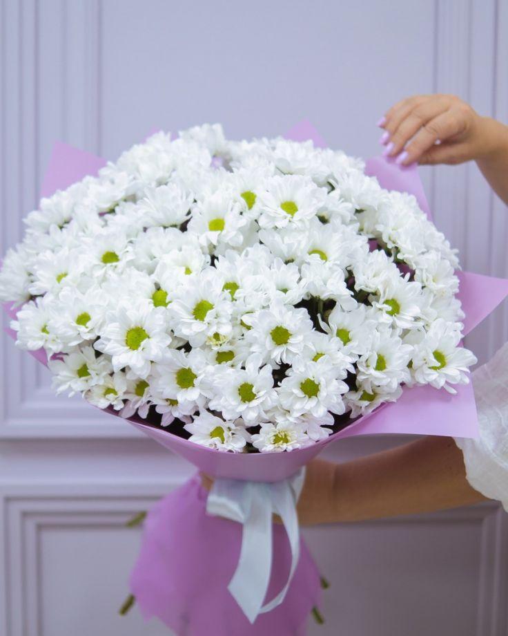 Букет цветов из 11 хризантем