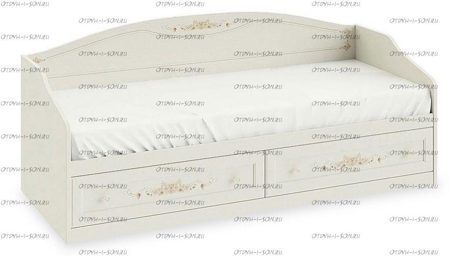 Кровать с 2 ящиками Лючия ТД-235.12.01 Штрихлак