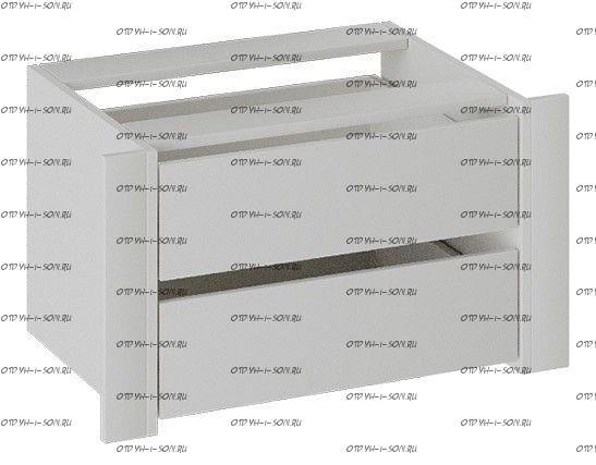Модуль с 2 ящиками Румер (1400,2100) Белый снег