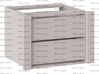 Модуль с 2-мя ящиками Румер ШК 1.60 (2я) Ясень шимо