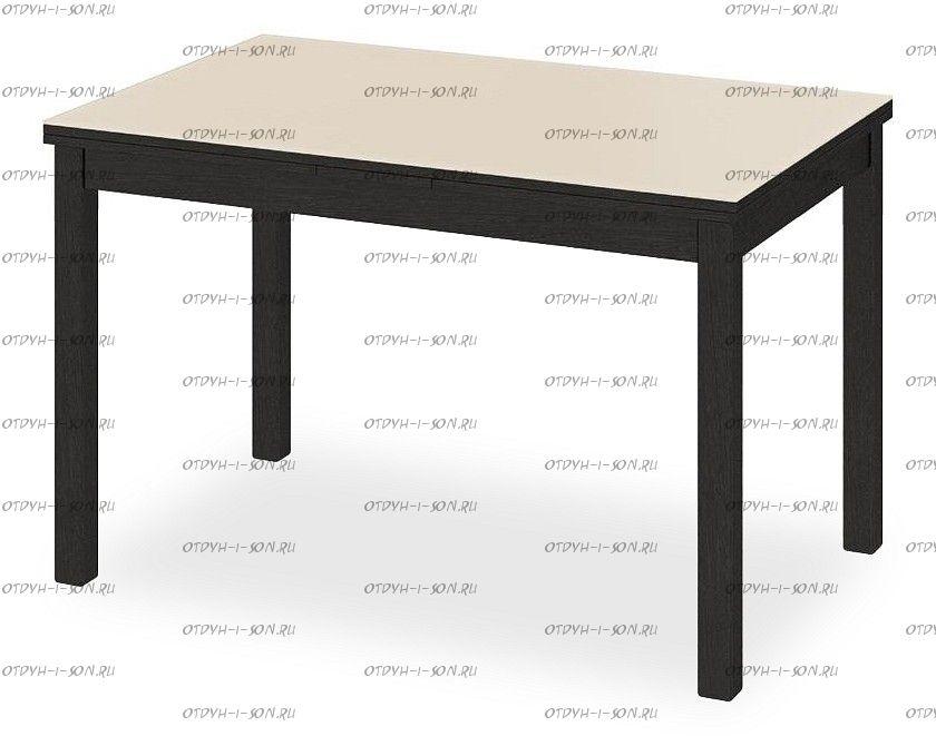 Стол обеденный раздвижной со стеклом Диез Т11 С-343 Венге/дуб миланский стекло матовое