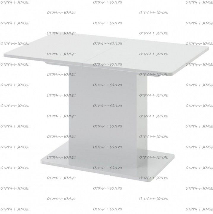 Стол обеденный Diamond тип 1 (1100х750) Белый глянец