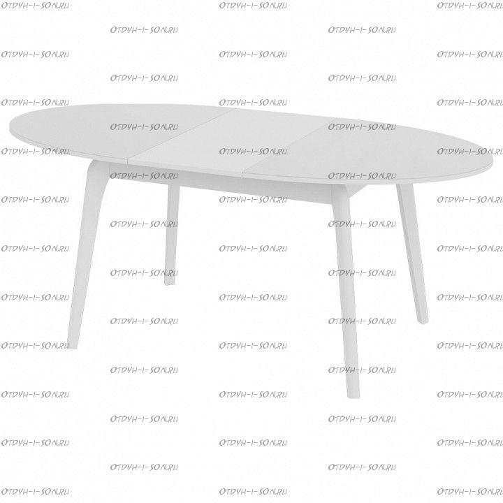 Стол обеденный Марсель СМ(Б)-102.01.12(1) со стеклом Белый/Стекло белое глянец