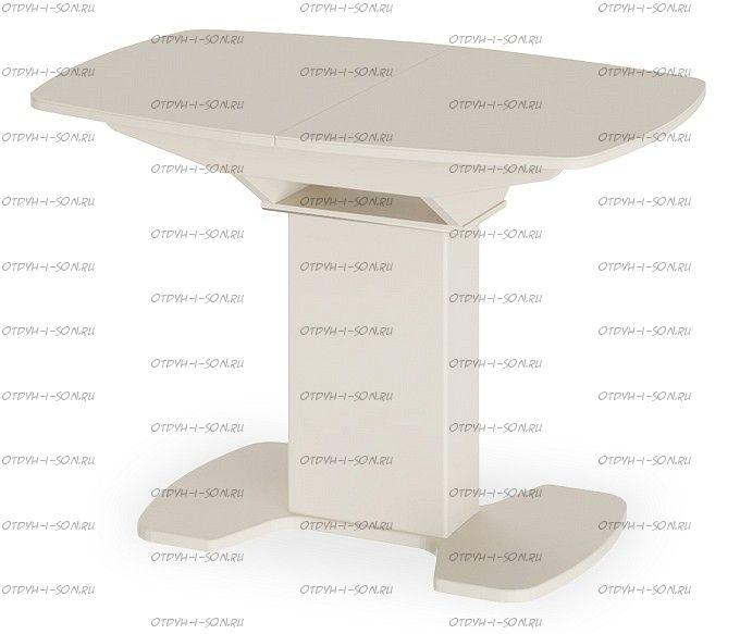 Стол обеденный Портофино СМ(ТД)-105.01.11(1) Бежевое/Стекло бежевое матовое LUX