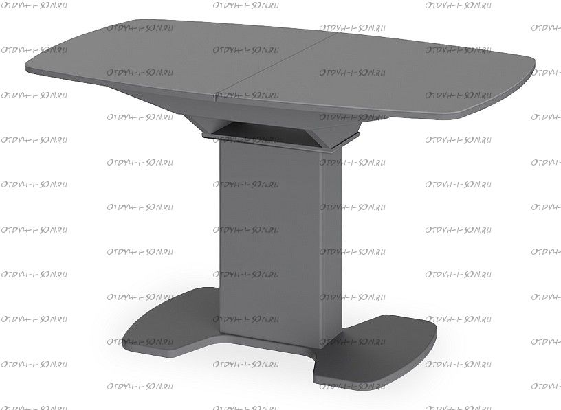 Стол обеденный Портофино СМ(ТД)-105.02.11(1) Серое/Стекло серое матовое LUX