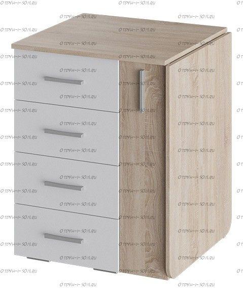 Стол письменный тип 5 Дуб Сонома/ Белый ясень