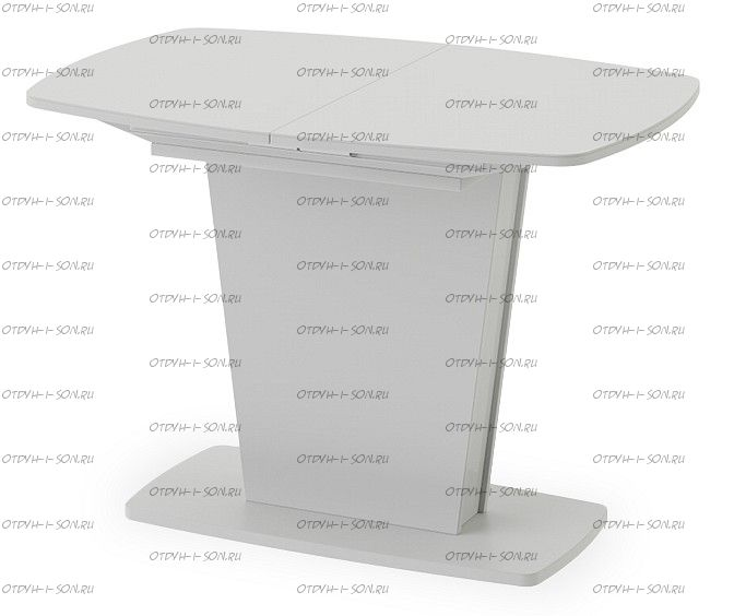 Стол раздвижной Честер Тип 1 Белый/Стекло Белый глянец (оптивайт)