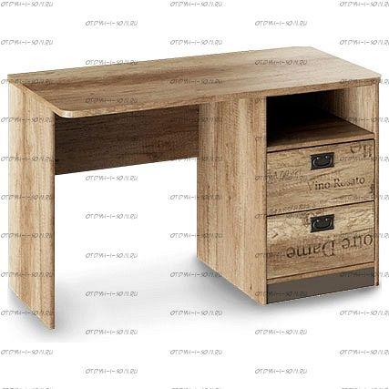 Стол с ящиками Пилигрим ТД-276.15.02 Дуб Каньон светлый, Фон серый