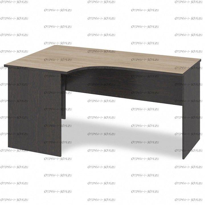 Стол угловой письменный Успех-2 ПМ-184.06 Венге Цаво, Дуб Сонома
