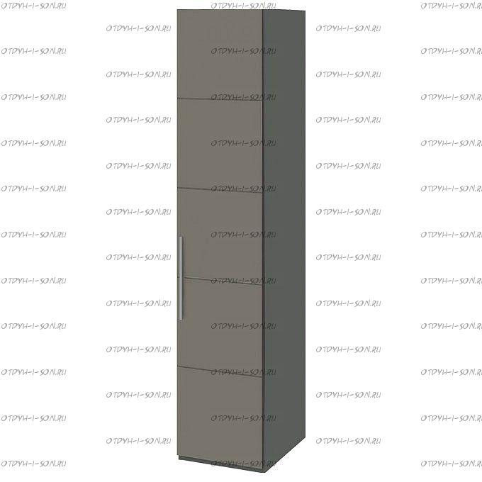 Шкаф для белья Наоми СМ-208.07.01 с 1 дверью R (Фон серый, Джут)