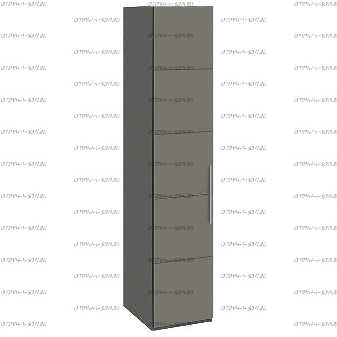 Шкаф для белья Наоми СМ-208.07.01 с 1 дверью Фон серый, Джут