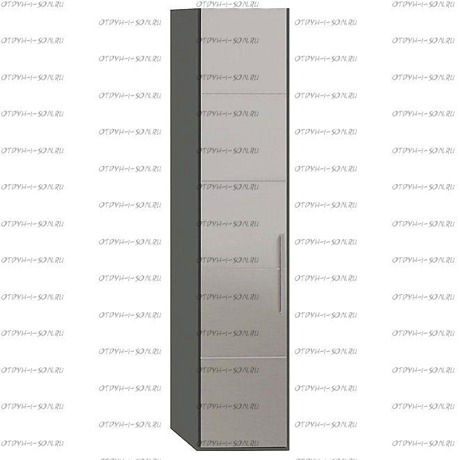 Шкаф для белья Наоми СМ-208.07.02 с 1 дверью с зеркалком L Фон серый, Джут