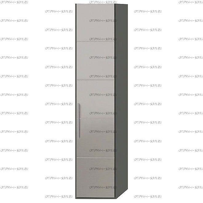 Шкаф для белья Наоми СМ-208.07.02 с 1 дверью с зеркалом R Фон серый, Джут