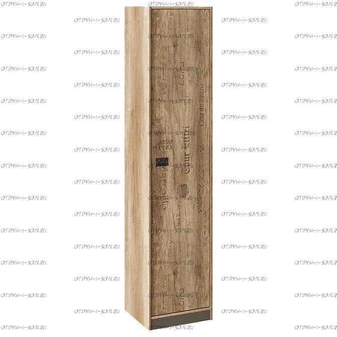 Шкаф для белья Пилигрим ТД-276.07.21 Дуб Каньон светлый, Фон серый