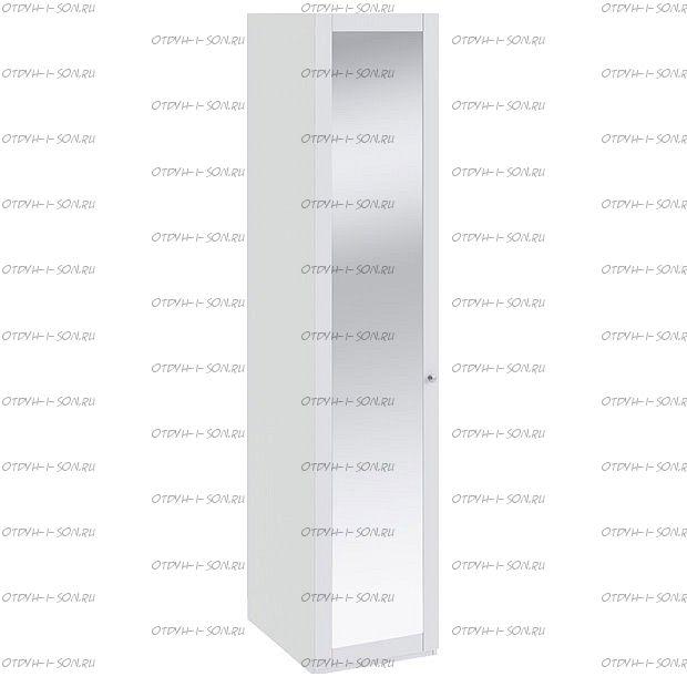 Шкаф для белья Ривьера СМ 241.07.001 с 1-й дверью с зеркалом Белый